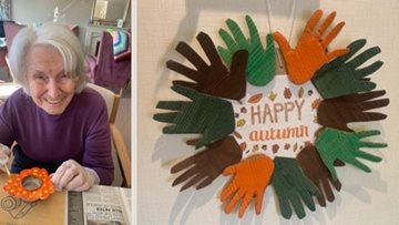 Newcastle care home Residents create wonderful autumn art