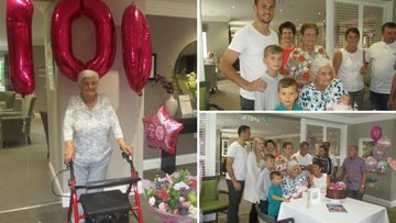 Milestone celebrations for Peterlee care home Resident