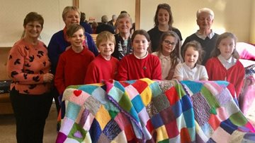 Local school children knit blankets for Bonnyrigg care Residents