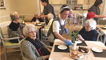 Afternoon Tea a big hit with Silverwood Residents