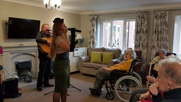 Remembrance Day at Newcastle care home