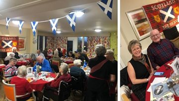 Burns Night celebrations at Arbroath care home