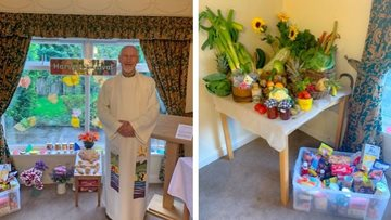 Harvest festival celebrations at Penrith care home