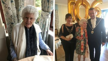 Resident celebrates 106th birthday at Northampton care home