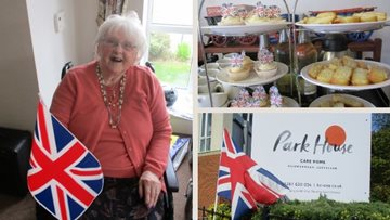 Guisborough care home Residents celebrate VE Day