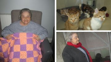 Swansea care home Residents crochet blankets for local animal shelter
