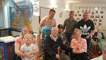 Peterlee care home hosts Father's Day party