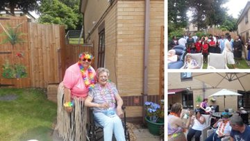 Walsall care home enjoys party in the sunshine