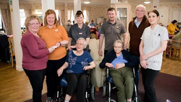 Coal care home receives generous donation