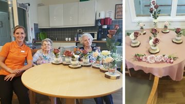 Floral fun at Peterlee care home