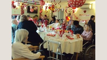 Valentine celebrations at Hounslow care home