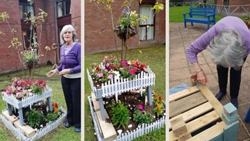 Glenrothes care home Residents enjoy spot of gardening