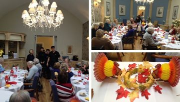 Thanksgiving celebrations at Henley-on-Thames care home