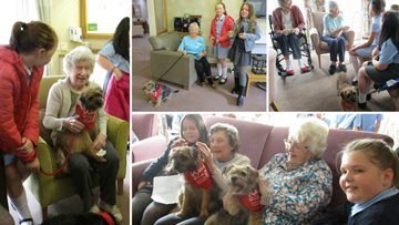 School teams up with Wag and Co to bring a smile to Guisborough care home Residents
