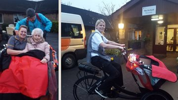 Alloa care home teams up with Cycling Without Age
