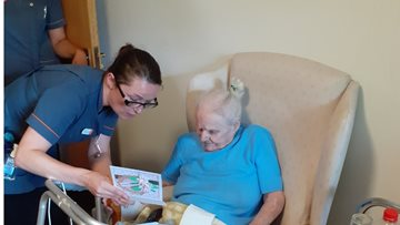 Birthday celebrations in full swing as Acacia Court Resident turns 90