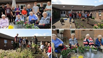 NCS volunteers carry out a garden makeover for Penrith care home