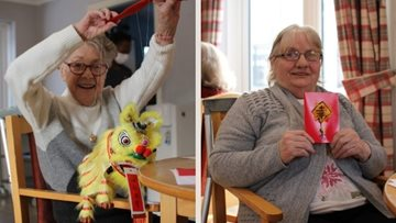 Glasgow care home Residents celebrate Chinese New Year