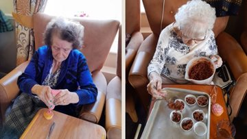 Tameside care home Residents get creative decorating cakes