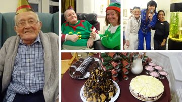 Festive fun at Warrington care home