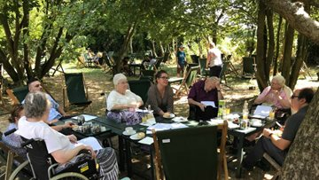 Residents visit The Orchard Tea Garden