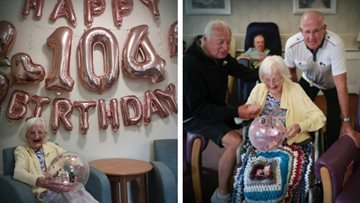 Great-great grandmother celebrates 104th birthday at Ashton-under-Lyne care home