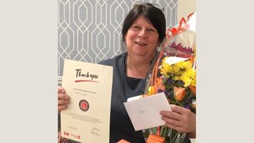 Colleague celebrates 15 years long service at Caerphilly care home