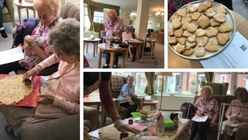 Valentine's baking at Broadway care home