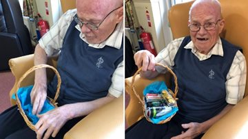 Yoker care home create welcome baskets for new Residents