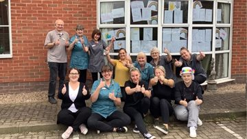 Calverton care home Residents say 'Thank you' to key workers