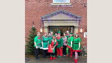 Colleagues at Stafford Care Home Enjoy Elf Day Celebrations for Alzheimer's Society