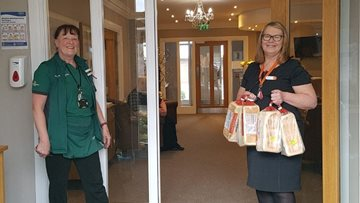 Local supermarket surprise Whitley Bay care home Residents