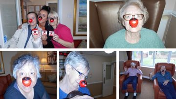 Carlton care home paints the town red for Comic Relief