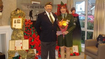 Redcar care home remembers fallen heroes on Remembrance Day
