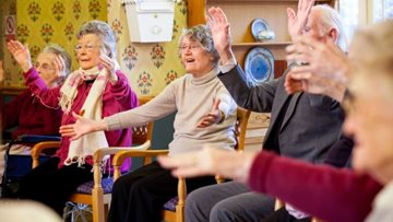Residents get moving with Zumba at Wigston care home