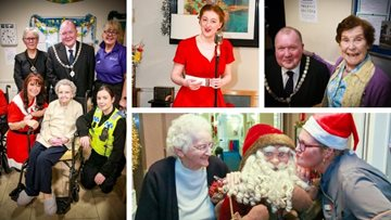 Lord Mayor joins Christmas celebrations at Chester care home