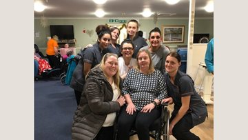 Farewell party for former Resident after four years at Burnley care home