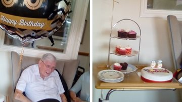 Birthday celebrations at Beeston care home