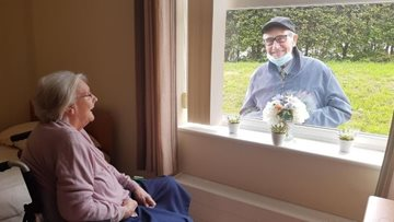 True love through a window at Tameside care home