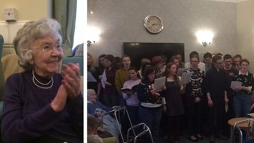 Festive cheer for all to hear at St Andrews care home