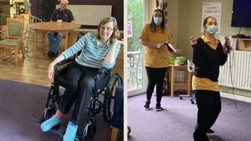 An afternoon of karaoke at Manchester care home