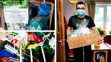 Blackburn care home delights at winning hamper after receiving nomination from local community
