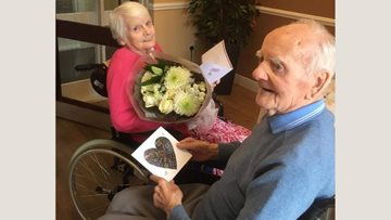 Valentine's Day at Newton Aycliffe care home
