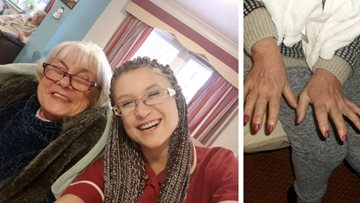 Residents enjoy pamper session at Hailsham care home