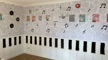 Ashington care home unveil new music wall