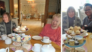 Mayford care home celebrates National Afternoon Tea week