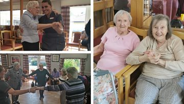Billy's Magic Moments party at Glasgow care home