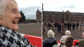 Residents attend The Edinburgh Royal Military Tattoo Rehearsal