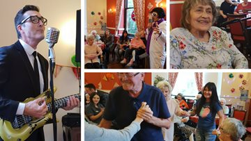 The King visits Salford care home
