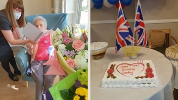 Manchester care home Resident celebrates 100th birthday